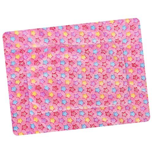 SM SunniMix Winter Warme Bettdecke Hundedecke Hundebett Decke Teppich Matte für Haustier Hunde Katze - Rosa-50x35cm -