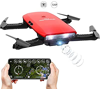 GoolRC One-handed Controller T47 6-Axis Gyro WIFI FPV Drone With Camera 720P HD Foldable Quadcopter G-sensor RC Toys Selfie Drone RTF With TWO Batteries & Protective Case from GoolRC