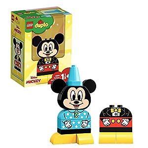 LEGO DUPLO Disney - Mi Primer Modelo de Mickey, Juguete Preescolar de Construcción de Mickey Mouse para Niños y Niñas a Partir de 1 Año y Medio (10898)