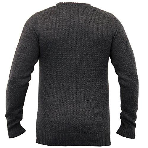 Herren Strickpulli Pullover By Brave Soul Dunkelgrau - 230ATLAS