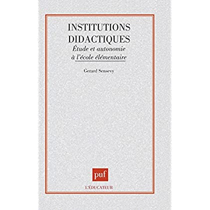 Institutions didactiques, 1ère édition