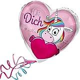> > > Fertig Heliumbefüllt < < < Folienballon Einhorn großes Herz > Für Dich < Ballon mit Helium/Ballongas gefüllt Liebe Heiratsantrag Valentinstag von Haus der Herzen®