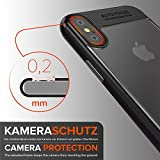iPhone X Case Urcover Focus Case crystal clear slim TPU Back Case Supports Wireless Charging, Bumper Frame Cover in Black for Apple iPhone 10/X