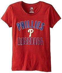 MLB Philadelphia Phillies Women's 59M Tee, Red Pepper Heather, Medium