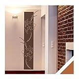 Exklusivpro Wandtattoo Blumen Ranken Wandbanner mit SWAROVSKI Strass Wohnzimmer Schlafzimmer (ban13 haselnussbraun) 150 x 50 cm mit Farb- u. Größenauswahl