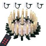 Yorbay LED Weihnachtskerzen GS geprüft IP44 wasserdicht Warmweiß Dimmbar mit Fernbedienung mit Timerfunktion als Weihnachtsdeko/für Weihnachtsbaum, Hochzeit, Partys(M (20er Set))