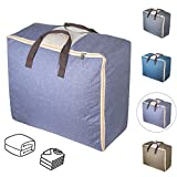 Duvet Storage Bags, Qozary Bedding Storage Bags with Zips, Clothes Storage Bag Made of Better and Comfortable Fabric, Available in 4 Colours (Purple)