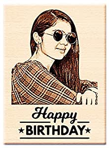 Incredible Gifts India Birthday Personalized Engraved Wooden Photo Frame (5 X 4 inches, Beige)