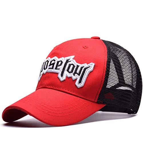 sdssup Tour Entenzungennetz Hut Flut Marke Männer und Frauen Paar Stickerei Baseballmütze rot einstellbar -