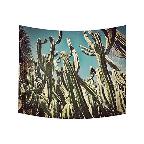 Xmiral Tapestries Einfach Kaktus Gedruckte Wandbehang Picknickdecke Strandtücher Wandtuch Wandteppich Yoga Decken Hochzeitsfeier Wanddeko Tischdecke(150X200 cm,A)