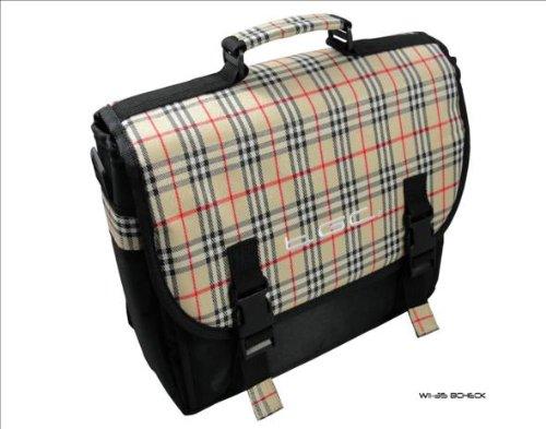 Neue Schwarz & Kariert Messenger Style Tragetasche Tasche für Dell Streak 7Tablet