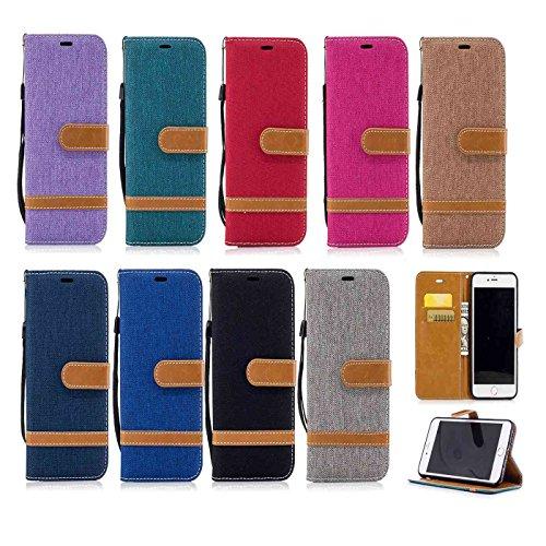 iPhone 7 Plus 5,5Zoll Schutzhülle,iPhone 7 Plus Leder Hülle,TOYYM Ultra Dünn Full Body Protection Flip Leder Wallet Brieftasche Case 3 in 1 Handytasche mit Stand Funktion Kartenfächer Magnetverschluss Schwarz