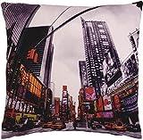 """rempli Funky Novel Times Square New York américain rouge noir COUSSIN 18 """""""