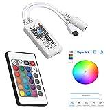 SIENOC Mini WiFi RGBW Musikcontroller + 24Keys IR Fernsteuerungs für LED-Streifen-Lichter