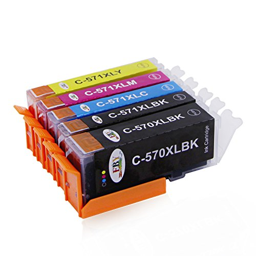 EBY kompatibel zu Canon PGI-570 XL CLI 571 XL Druckerpatronen für Canon Pixma MG5750 MG5751 MG5752 MG5753 MG6850 MG6851 MG6852 MG6853 TS5050 TS5051 TS5053 TS5055 TS6050 TS6051 TS6052