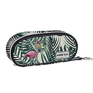 PRODG Flamingo Estuches, 21 cm, Verde, poliéster