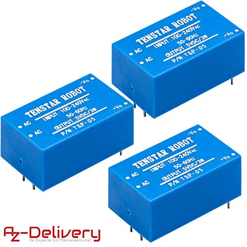 AZDelivery ⭐⭐⭐⭐⭐ 3 x 220V zu 5V Mini-Netzteil für Arduino und Raspberry Pi -