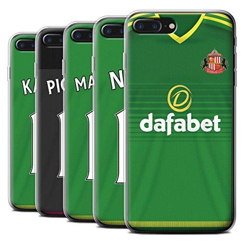 Officiel Sunderland AFC Coque / Etui Gel TPU pour Apple iPhone 7 Plus / Watmore Design / SAFC Maillot Extérieur 15/16 Collection Pack 24pcs