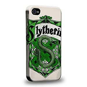 Case88 Premium Designs Harry Potter & Hogwarts Collections Hogwarts Slytherin Sigil Coque protectrice pour Apple iPhone 4 4s