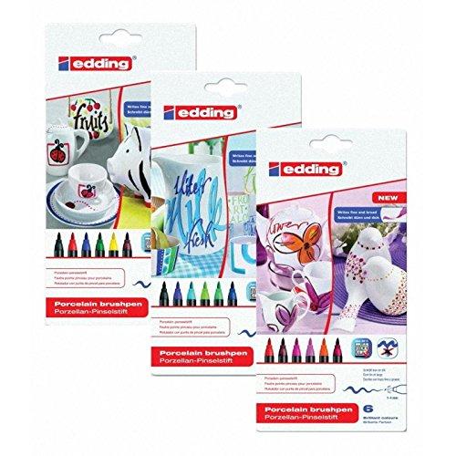 Edding 4200Porzellan Bürste Ben 1-4mm erhältlich Alle 3 Sortierungen -