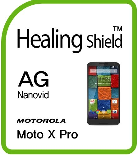 Healing disseminate b convoy out into disarray out in in along on Schutzfolie Displayschutz Screen Protector Anti-Fingerprint Anti-Glare Matte Smokescreen for Motorola Non-stationary Moto X Pro [Countenance 2pc]