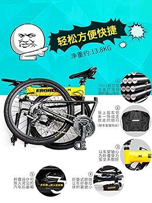 Tomorroww Jugendrad Mountain Bike Unisex Mountainbike Leicht Kohlenstoffstahl Doppelscheibenbremse Stoßdämpfung Höhenverstellbar Junge Mädchen 16/18/22 Zoll Kinderfahrrad,18inch