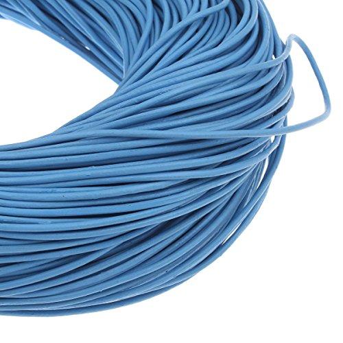 Perlin Lederband Rund Lederschnur Lederriemen Ø 2mm Blau 2,5m RINDLEDER C