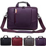BRINCH 15.6 Inch New Soft Nylon Shockproof Laptop Computer Case Sleeve Shoulder Messenger Bag Briefcase with Pockets Handles and Detachable Shoulder Strap for 15 - 15.6 Inch Laptop / MacBook / Notebook / NetBook / Chromebook / Tablet Computers,Colour Purple