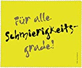 Brillenputztuch 17 x 15 cm • 44102 ''Alle Schmierigkeitsgrade'' von Inkognito • Künstler: INKOGNITO © Julia Weiss