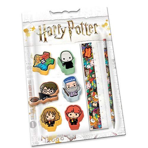 Karactermania 38744 - Set de 6 Gomas, Lápiz y Regla Harry Potter Express, Multicolor 13