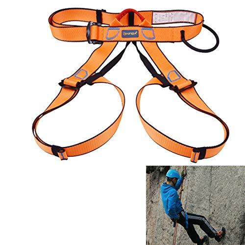 Easy Go Shopping Cintura di Sicurezza per Imbracatura per Arrampicata Cintura di Sicurezza per Scalata Regolabile Mezza Guardia di Protezione Camping (Colore : Arancia)
