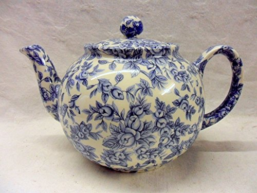 Special Offer Blue Blossom 6 Cup Teapot By Heron Cross Pottery.