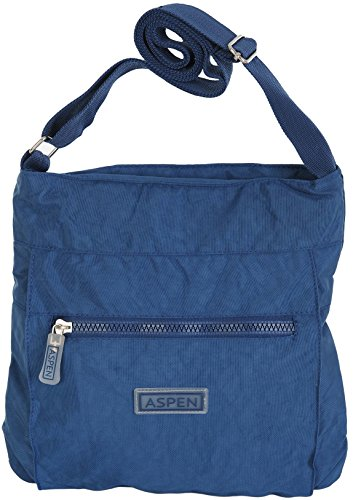 CN2840 Blu cerniera a leggera borsa con viaggio navy da Aspen tracolla 8O7nwa
