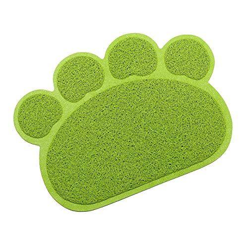 Tera® Vorleger Matte Kleine elastische PVC Pfote Design Matratze Haustier-Tischset Platzmatte Tischmatte für Hunde Katzen Katzentoiletten