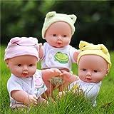 #7: Rishil World 30CM Newborn Baby Doll Gift Toy Soft Vinyl Silicone Lifelike Newborn KidsToddler Girl