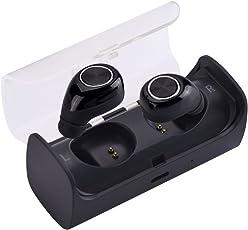 Shuzhen,Bluetooth V4.2 Wireless Stereo Surrounding Kopfhörer Noise Cancelling mit dem Aufladen Organizer(Color:SCHWARZ + Silber)