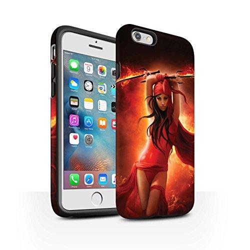 Officiel Elena Dudina Coque / Matte Robuste Antichoc Etui pour Apple iPhone 6+/Plus 5.5 / Pack 9pcs Design / Super Héroïne Collection En Feu