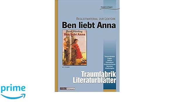 Ben Liebt Anna Literaturblätter Begleitmaterial Zur