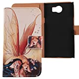 Lankashi PU Flip Leder Tasche Hülle Case Cover Schutz Handy Etui Skin Für BlackBerry Priv STV100-1 5.4