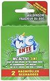 WC-Ente Original Nachfüller für WC-Ente Active 3in1 Duftstein, Waldfrische-Duft, 4 x 80 g