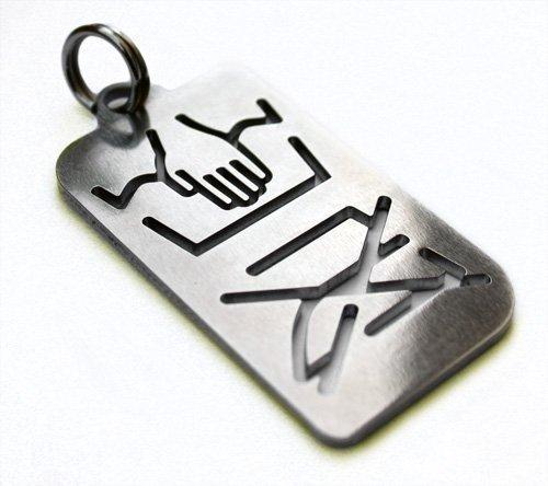 Spricht Wenig (Handwäsche & Nicht Bügeln Schlüsselanhänger Edelstahl Handwash Only Keyring Pendant Tuning - DUB)