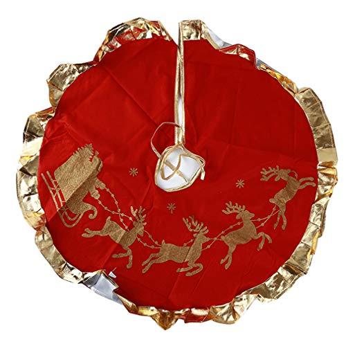 SUNSKYOO Baum Röcke Plüschtuch Weihnachtsmann Schneeflocken Hawaiian Party Kostüm Dekor, Weihnachtsmann