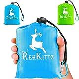 AMZOON Picknickdecke Klein Stranddecke Reisedecke Wasserdichter Outdoor Wanderdecke Leicht Decke...