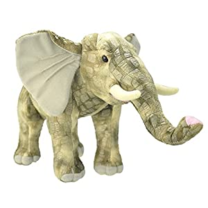Wild Planet- All About Nature-33cm Elefante-Hecho a Mano, Peluche Realistico, (K7515)