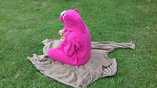 Katara 1744 - Glücksbärchi Onesie Kostüm, Teile-Gern-Bärchi, Party, Karnevals-Kostüm, Verkleidung zum Fasching, Schlafanzug, Hausanzug, Jogginganzug, Cosplay, Tierkostüm Lila