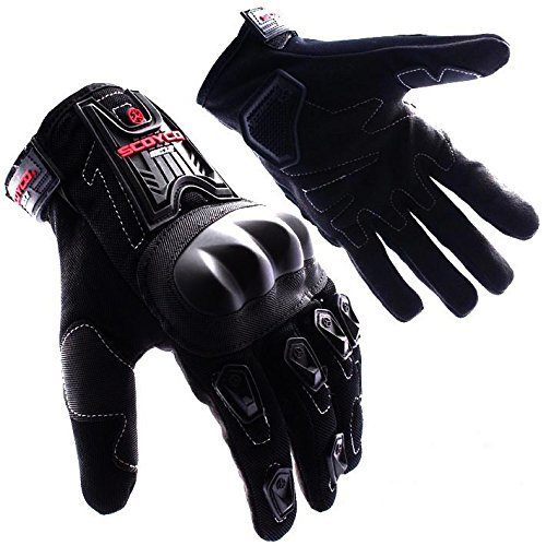 AUTOTRUMP SCOYCO MC12 MOTORCYCLE RIDING GLOVES BLACK COLOUR BIKING & RACING (L)