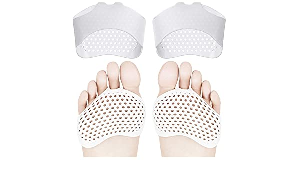 KANKOO Foot Cushions Metatarsal and Forefoot Pads 1 Pair Gel Bunion Corrector Half Toe Sleeves Separators Bunion Protector Toe Spreader Hallux Valgus Protector for Men and Women Wearable Ballet Shoes