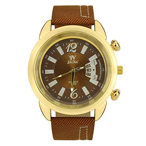 OPALLEY High-End Qualität Mode Retro Design Uhr Herrenuhr Trend Quarzuhr Durable Glasspiegel Business Style Leder Handgelenk Gürtel Komfortable wasserdichte Einfache Uhr