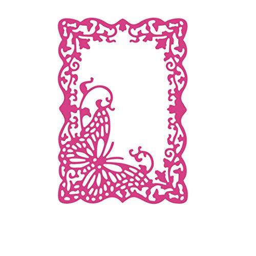 taottao Weihnachten Kinder geistigen Entwicklung Metall Formen Karte Parenting Fun Craft Langlebig Schablonen Scrapbooking Prägung Album DIY Papier Blumen (Dress Fancy Bank)