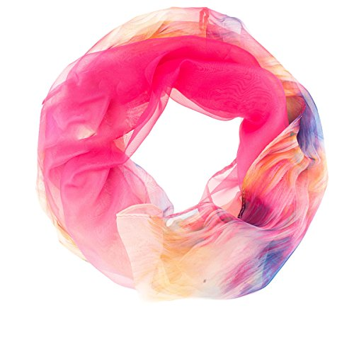 adonia mode Loop Schlauchschal Tuch gecrasht Aquarell 37-01 Fb.Pink/Bunt